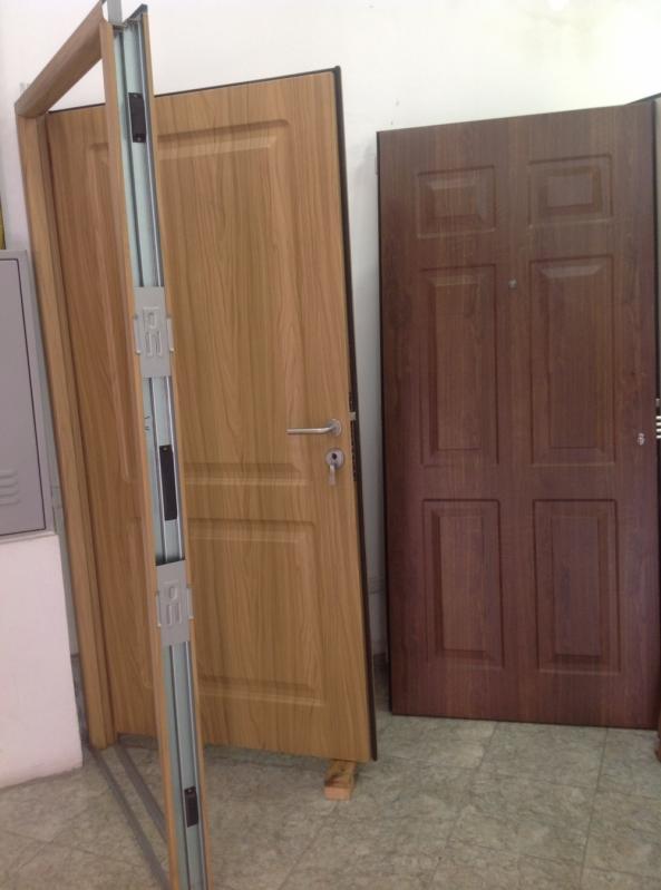 Porta de Aço Segurança Preço Caldas Novas - Portas Blindadas de Correr