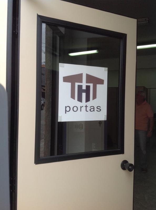Portas Blindadas de Vidro Vargem Grande - Porta Blindada com Vidro